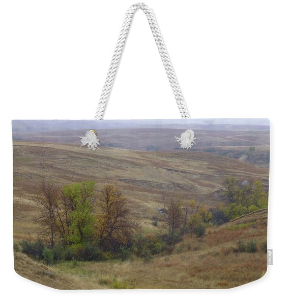Weekender Tote Bag featuring the photograph Enchantment Of The September Grasslands by Cris Fulton