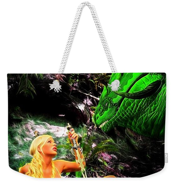 Encounter With A Dragon Weekender Tote Bag