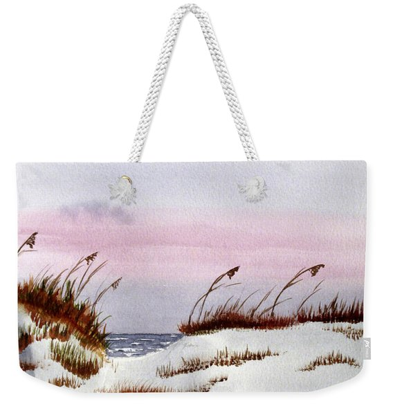 Weekender Tote Bag featuring the painting End Of A Perfect Day by Rich Stedman