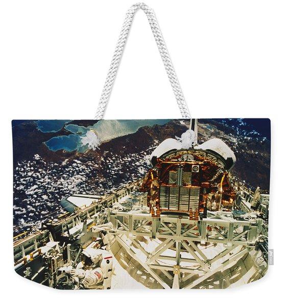 Endeavour Spacewalk Weekender Tote Bag