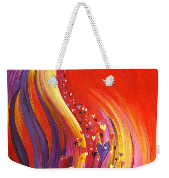 Weekender Tote Bag featuring the painting Arise My Love by Nancy Cupp