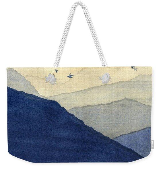 Endless Mountains Left Panel Weekender Tote Bag