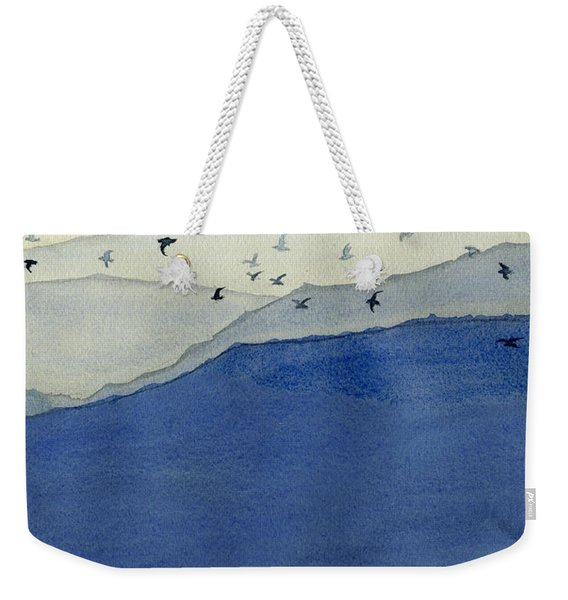 Endless Mountains Right Panel Weekender Tote Bag