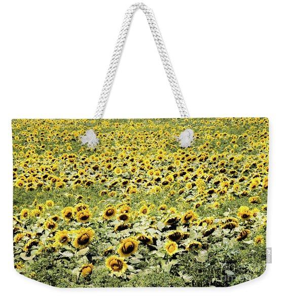 Endless Sunflowers Weekender Tote Bag