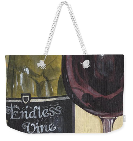 Endless Vine Panel Weekender Tote Bag