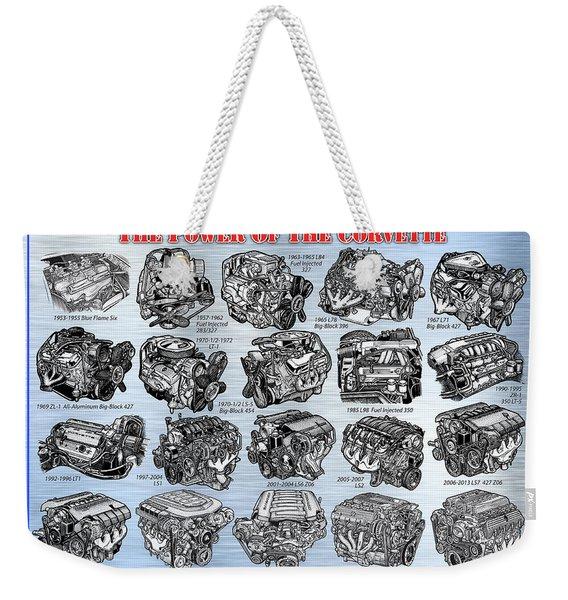Eng-19_corvette-engines Weekender Tote Bag