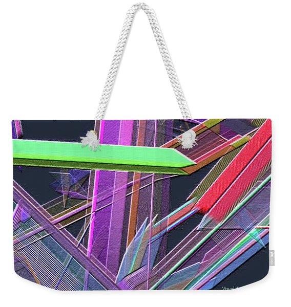 Weekender Tote Bag featuring the digital art Engineer's Office by Visual Artist Frank Bonilla