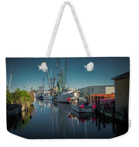 Englehardt,nc Fishing Town Weekender Tote Bag
