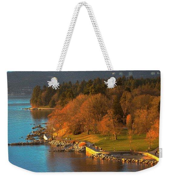 English Bay At Golden Hr. Weekender Tote Bag