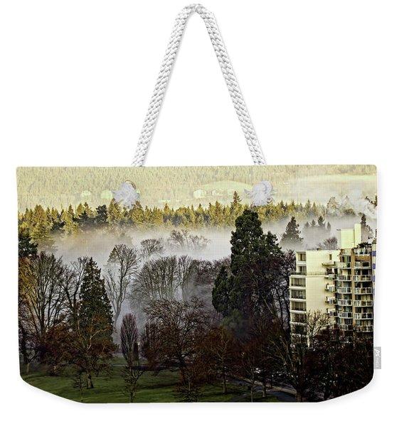 English Bay Fog Weekender Tote Bag