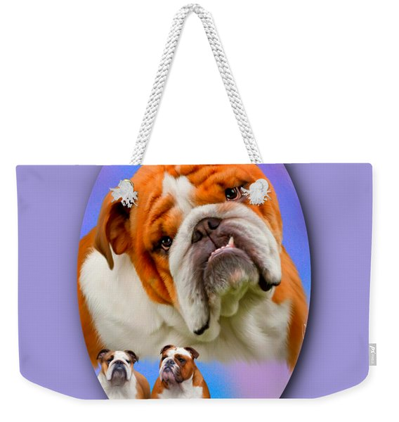 English Bulldog- No Border Weekender Tote Bag