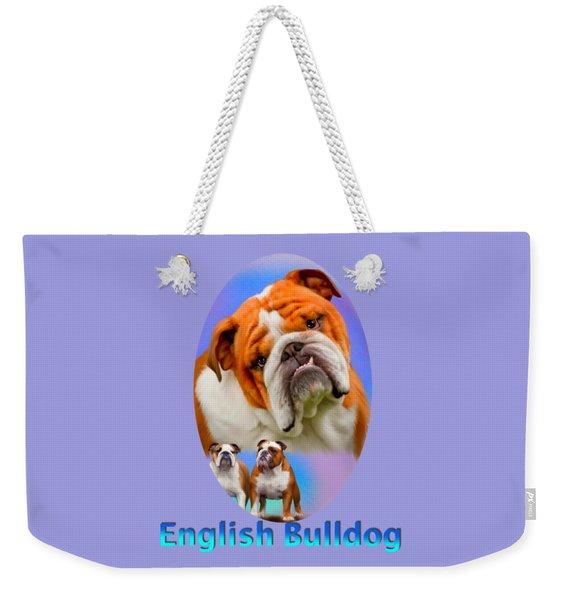 English Bulldog With Border Weekender Tote Bag
