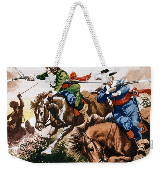 English Civil War Battle Scene Weekender Tote Bag