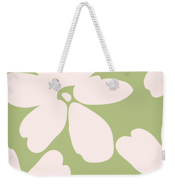 English Garden Floral Pattern Weekender Tote Bag