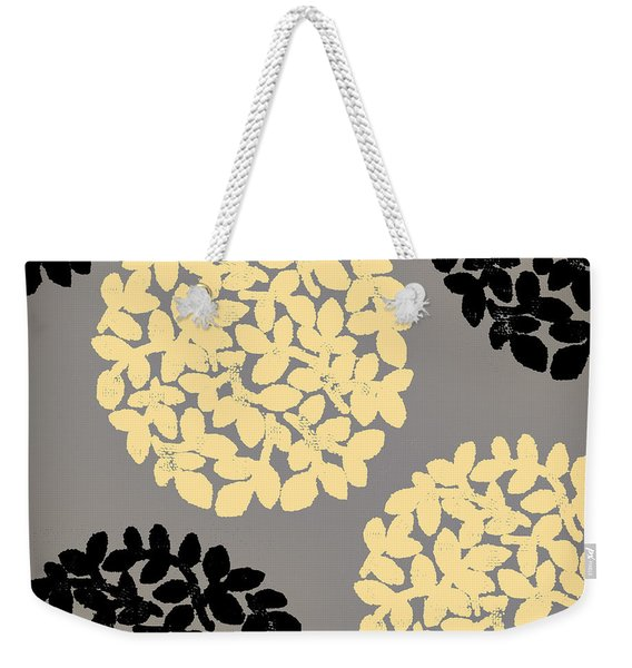 English Garden Retro Flower Pattern Weekender Tote Bag
