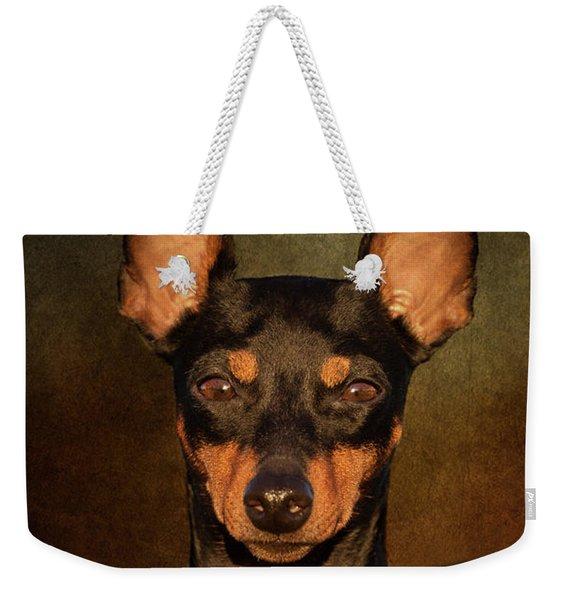 English Toy Terrier Weekender Tote Bag