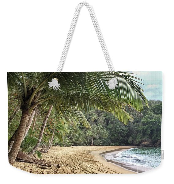 Weekender Tote Bag featuring the photograph Englishmans Bay Tobago by Rachel Lee Young