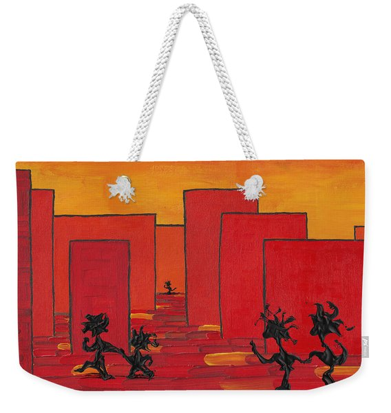 Enjoy Dancing In Red Town P1 Weekender Tote Bag