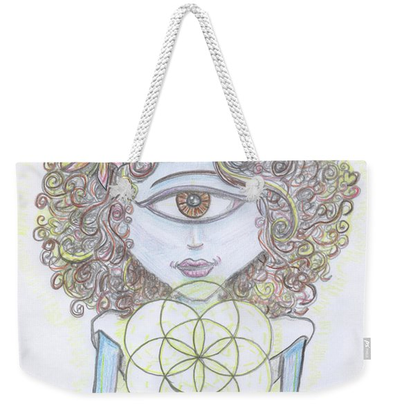 Enlightened Alien Weekender Tote Bag