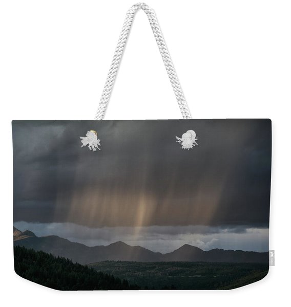 Weekender Tote Bag featuring the photograph Enlightened Shafts by Jason Coward