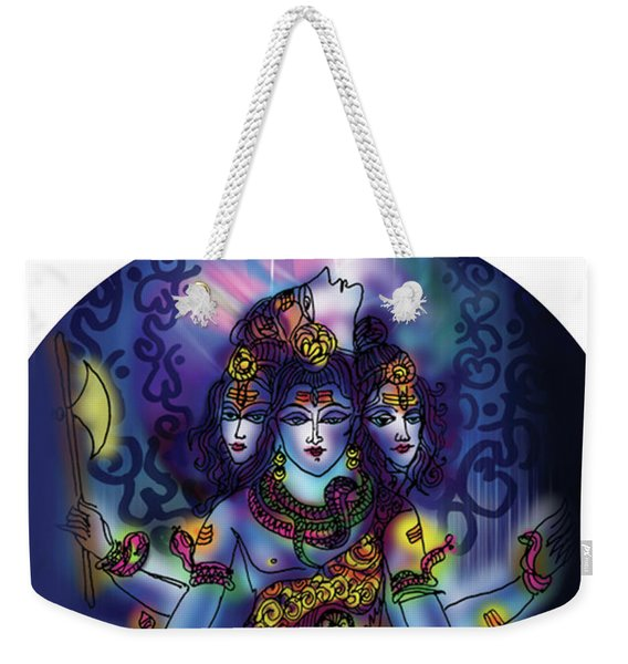 Enlightened Shiva Weekender Tote Bag