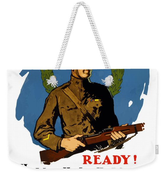 The Regular - Enlist For The Infantry Weekender Tote Bag