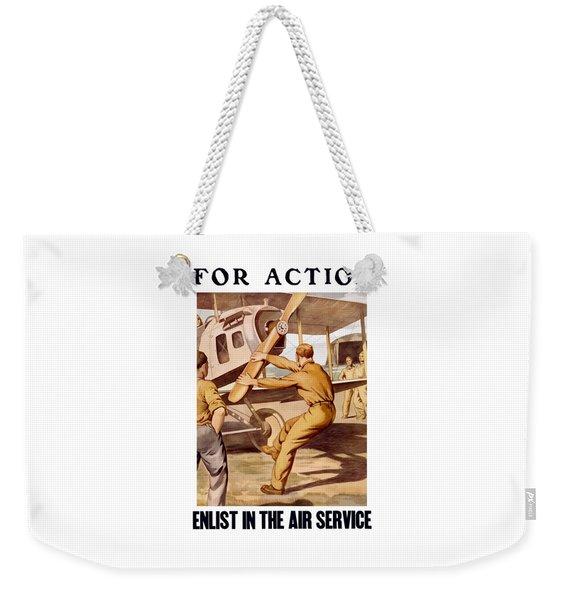 Enlist In The Air Service Weekender Tote Bag