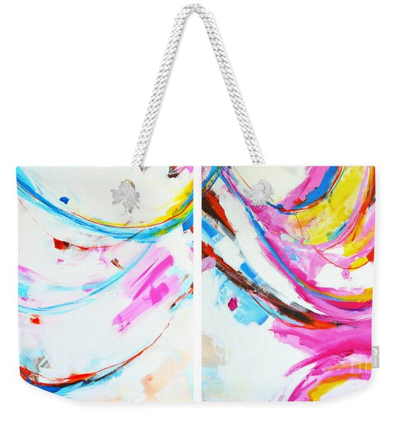 Entangled No. 8 - Diptych - Abstract Painting Weekender Tote Bag