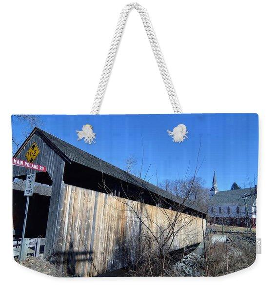 Enter Here Weekender Tote Bag
