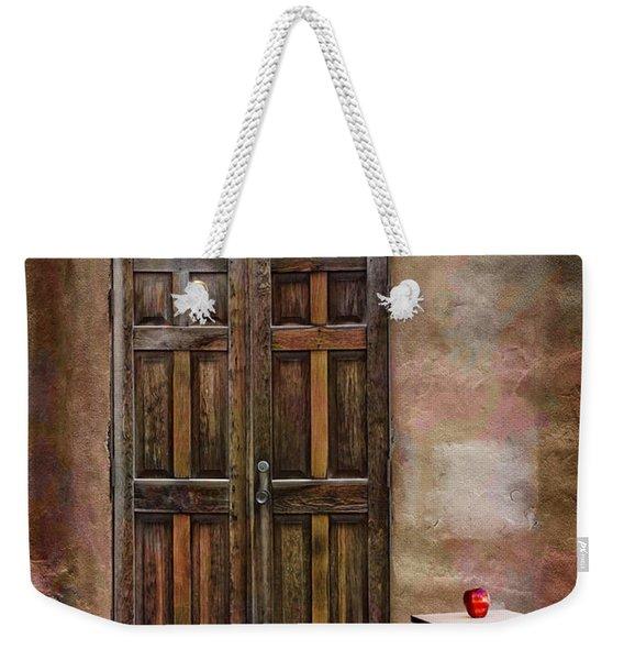 Entering Santa Fe Weekender Tote Bag