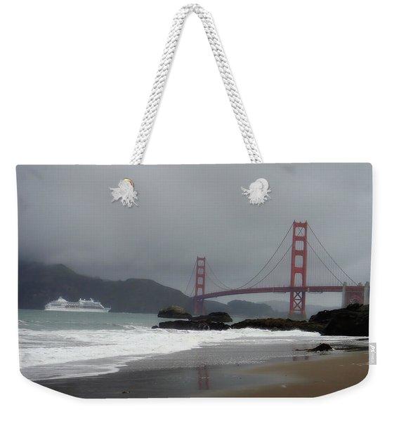 Entering The Golden Gate Weekender Tote Bag