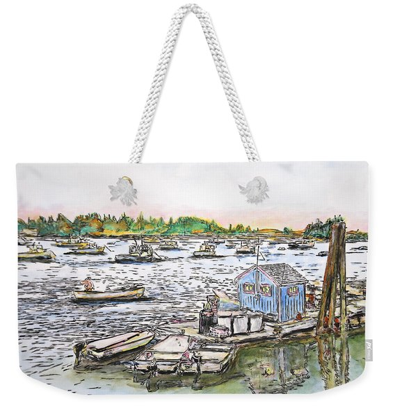 Entering Vinal Haven, Maine Weekender Tote Bag