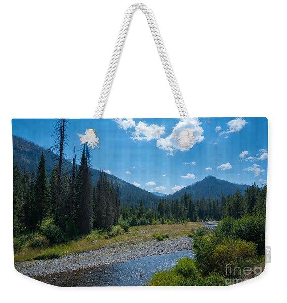 Entering Yellowstone National Park Weekender Tote Bag