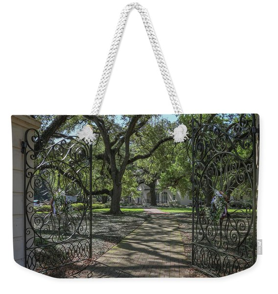 Entrance Gate To Ul Alum House Weekender Tote Bag