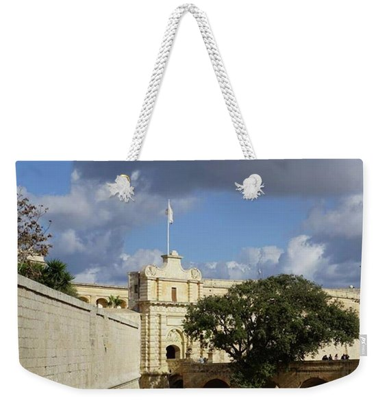 Entrance To Mdina, Malta #malta #mdina Weekender Tote Bag