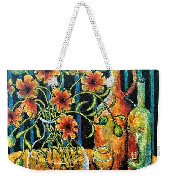 Entwining Poppies Weekender Tote Bag