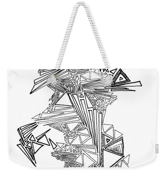 Epitaxy Ink Drawing By Regina Valluzzi Weekender Tote Bag