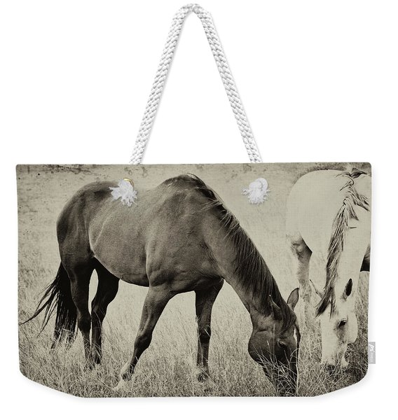 Equine Friends Antiqued Weekender Tote Bag