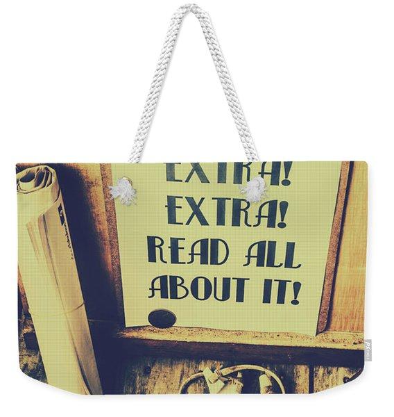 Era Of Print Media Weekender Tote Bag