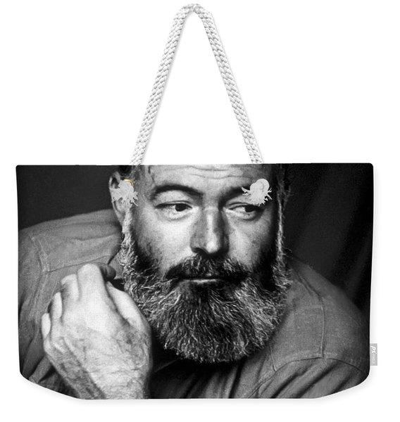 Ernest Hemingway 1944 Weekender Tote Bag