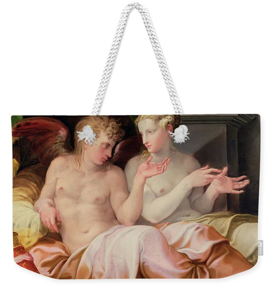 Eros And Psyche Weekender Tote Bag