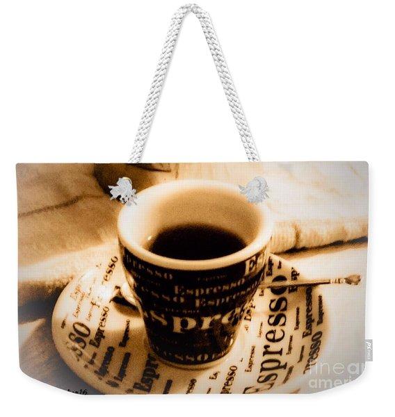 Espresso Anyone Weekender Tote Bag