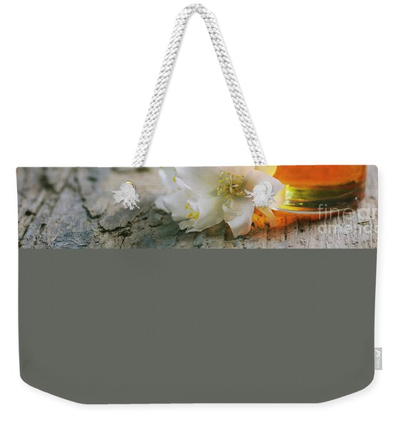 Essential Oil With Jasmine Flower Weekender Tote Bag