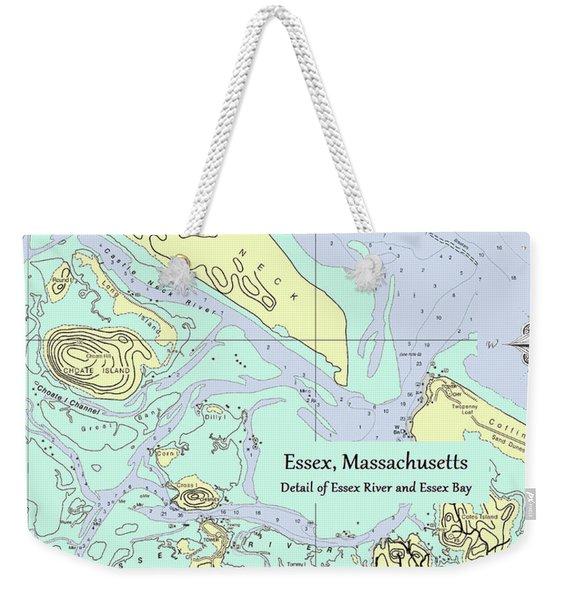 Essex River Detail Weekender Tote Bag