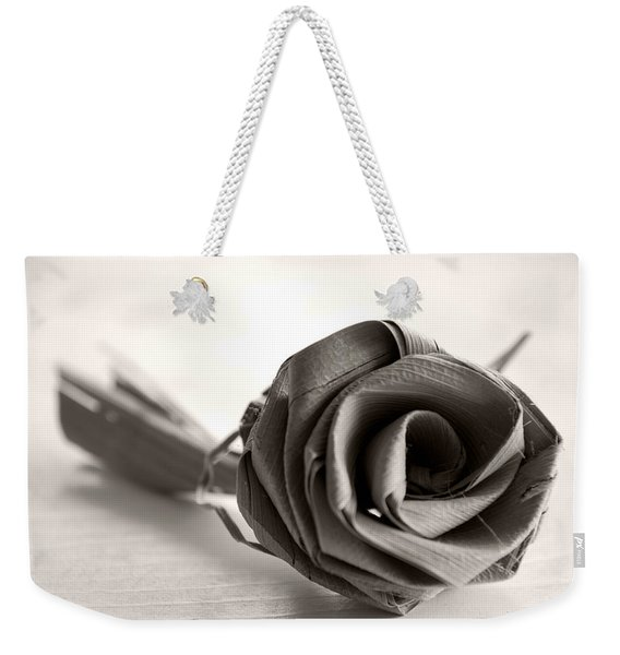Eternal Rose In Sepia Weekender Tote Bag