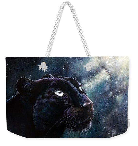 Weekender Tote Bag featuring the painting Eternal by Sandi Baker