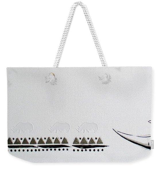 Ethnic Rhino Weekender Tote Bag