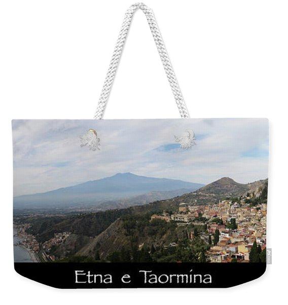 Etna E Taormina Weekender Tote Bag