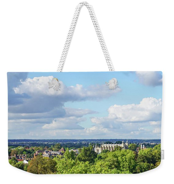 Eton College From Windsor Castle Weekender Tote Bag