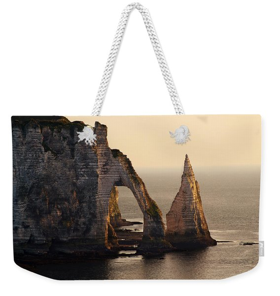 Weekender Tote Bag featuring the photograph Etretat In Morning Sun by Jaroslaw Blaminsky